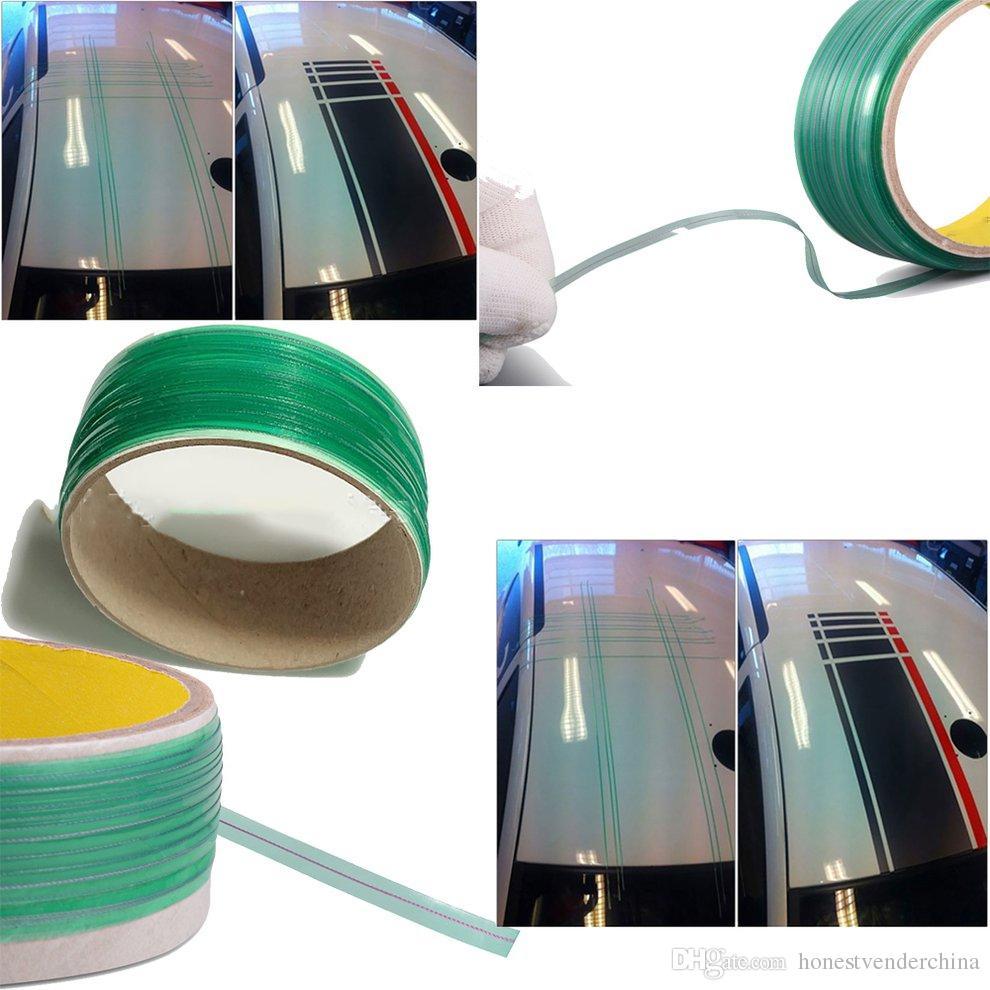 10X 500CM 비닐 자동차 랩 Knifeless 테이프 디자인 라인 자동차 스티커 절단 도구 비닐 필름 포장 컷 테이프 자동차 액세서리