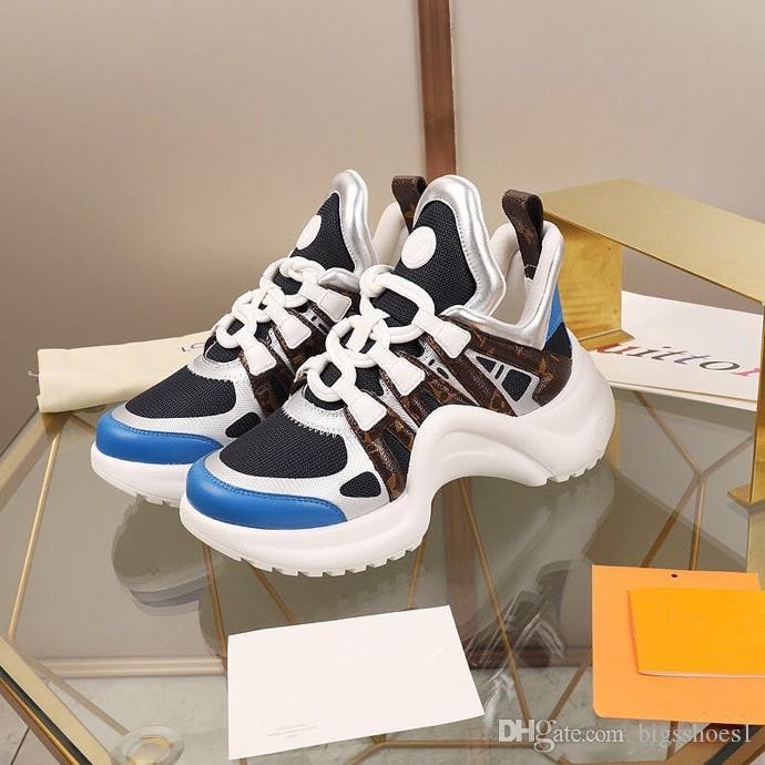 Louis Vuitton LV shoes 2020 triple de chaussures arène d'entraînement de la mode des femmes blanches noires unique formateurs vert néon clair baskets plate-forme