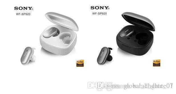 Wireless Bluetooth Headse Sony WF-SP920 doppio Ear Sport In-Ear Headphone in bianco e nero auricolare Bluetooth Car toni bassi, 006