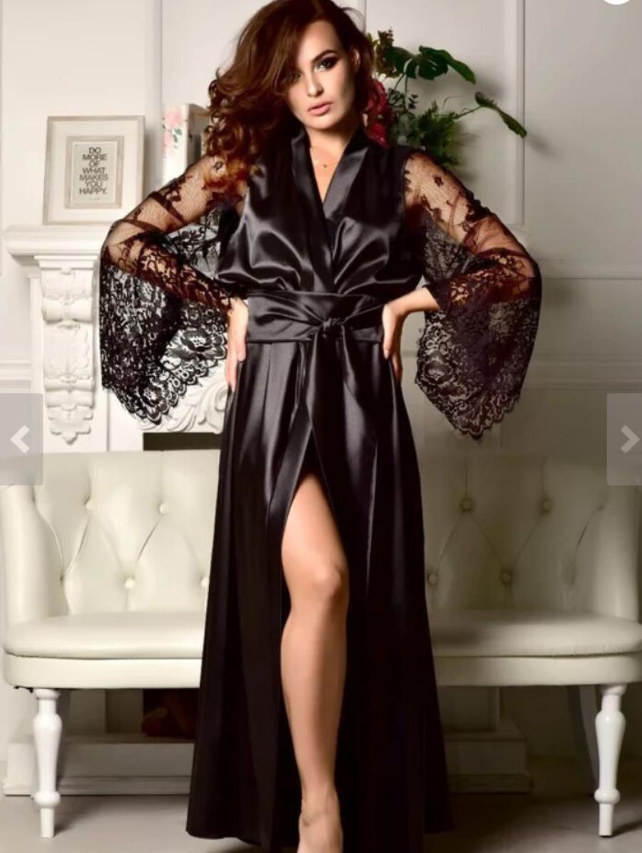 Sexy Dessous Bademantel Pijama Lencería Roben de Femmes Nachtwäsche Frauen Pyjamas Pigiami da Notte pro Donna Bad Robe Wäschereien Frau EIPDT