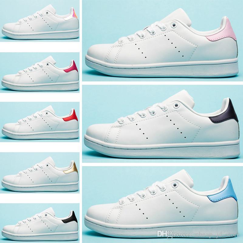 Adidas Stan Smith Роскошные Дизайнерские Полосы Stan Flats Женщины Повседневная Обувь Тройной Белый Черный Зебра Зеленый Серебристый Золотой Смит Мужские Спортивные Кроссовки 36-45