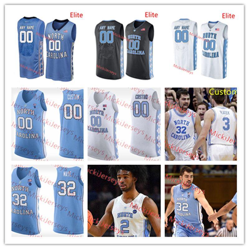 2021 Mens Custom NCAA NORTH CAROLINA TAR HEELS Basketball Jersey ...