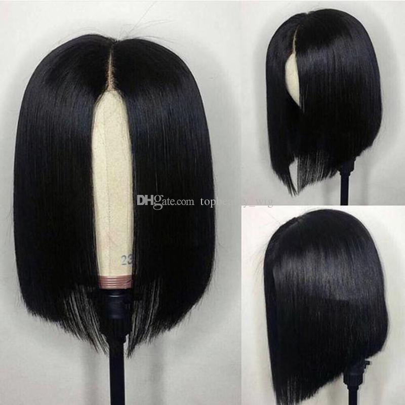 Bob Wigs For African American Women Virgin Peruvian Bob Cut Short Lace Front Cheap Human Hair Wigs
