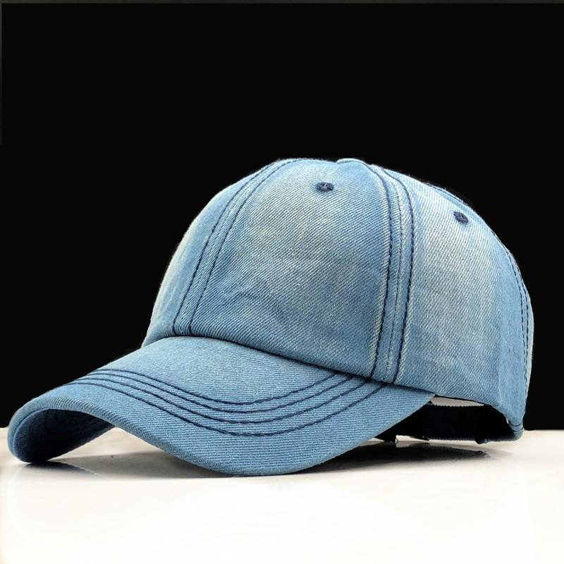 LJQ-shop Fashion Girl Denim Cotton Fabric Adjustable Hat