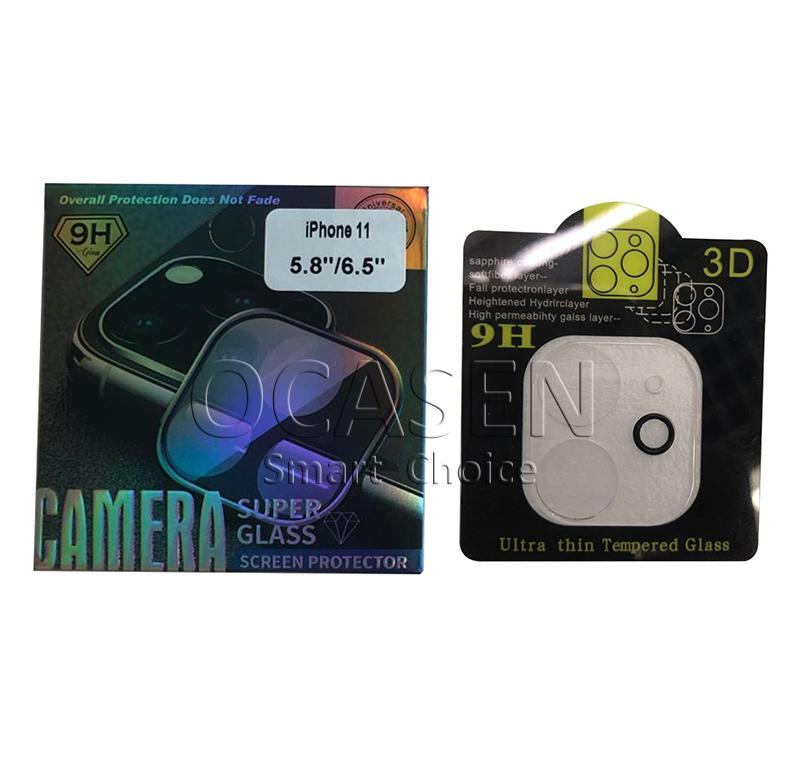Telefon-Objektiv-Schirm-Schutz für iPhone 11 Pro Max 3D Transparent Kratzfeste Full Cover Kamera zurück Ausgeglichenes Glas Film
