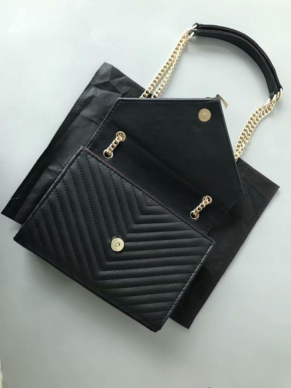 2020 vente chaude hiver printemps femmes noires sacs à main designer bourse chaînes femme diamant sacs de mode treillis sac à bandoulière