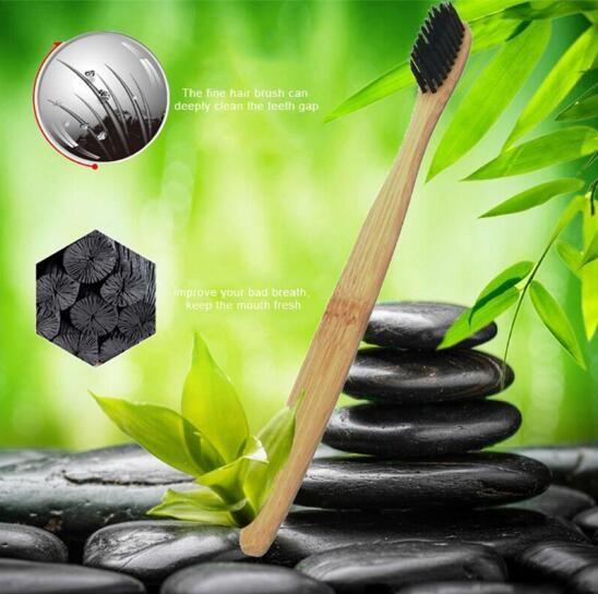 Bamboo Spazzolino da denti adulti denti naturali che imbiancano bambù maniglia morbida Spazzolino