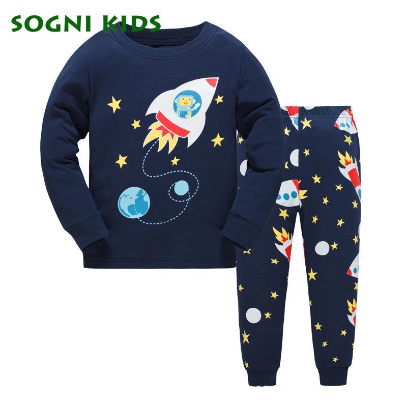Baby Girls Boys Clothing Set Children Pajamas Pyjamas Nightwear For Cotton Modis Clothes Toddler Long Sleeve Kids Sleepwear J190522