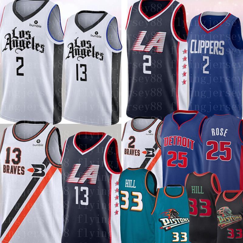 NCAA 2 Men Kawhi Leonard Paul 13 George jersey Derrick Rose 25 Grant 33 Colina Basketball Jerseys