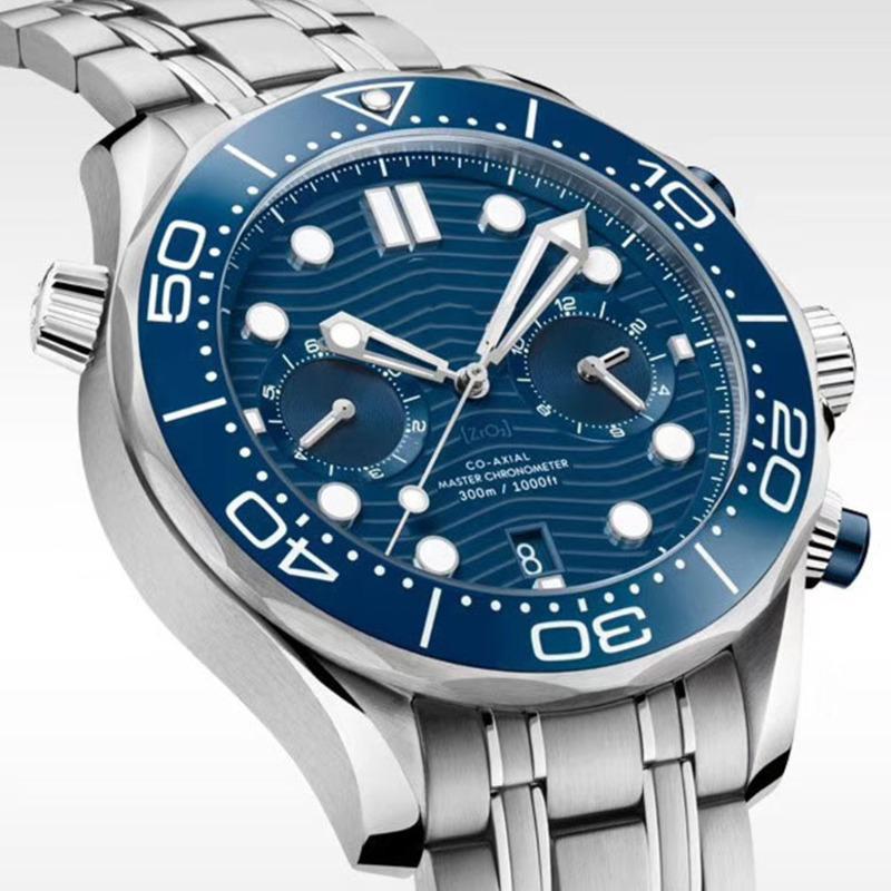 Reloj para hombre Diver mecánico automático relojes de los hombres Movimiento 300M Relojes de pulsera hebilla desplegable