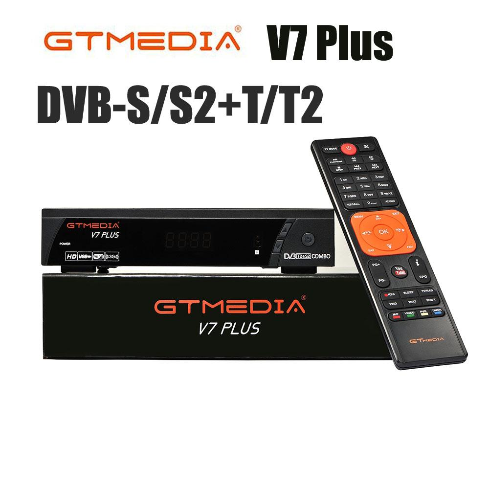 Hot DVB-S2/T2 GTMedia V7s HD Satellite Receiver FTA 1080p Super Decoder for Spain TV Box Receptor Youtube GT Media Freesat V7 plus cccam