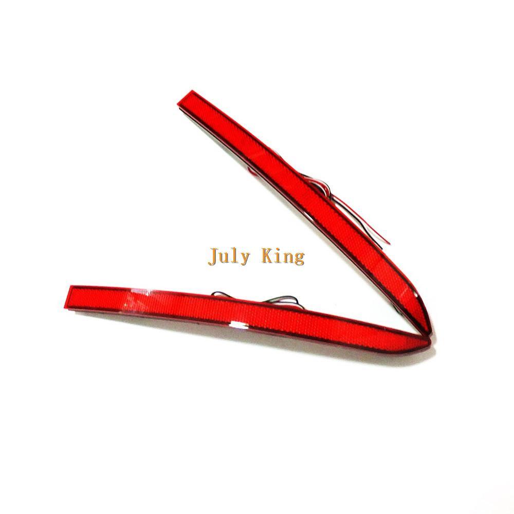 يوليو سيارة الملك LED أضواء الفرامل + ليلة الجري الخفيف DRL حالة لفولكس واجن Tigian 2008-2015، السيارات المصد الخلفي مصباح الضباب، 1SET / الكثير