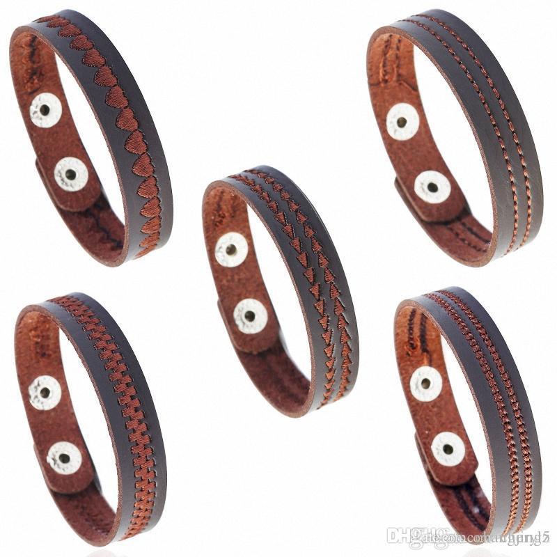 Regalos Accesorios Infinity pulseras estilo de la mezcla Mucha Moda Infinity joyería de cuero de la vendimia del encanto de la pulsera de amante