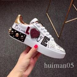 2020 new style brand sports shoes women Song Yi Di Li hot bar with the shoes hip hop graffiti banquet white shoes n00237