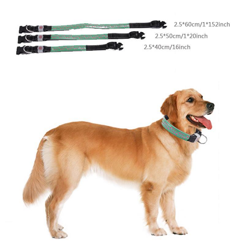 LED Outdoor Luminous Pet Dog Collars USB Charge Dog Collar Light Adjustable LED 4 Flashing Modes PU Night Flashing Pet Collar BC BH1251