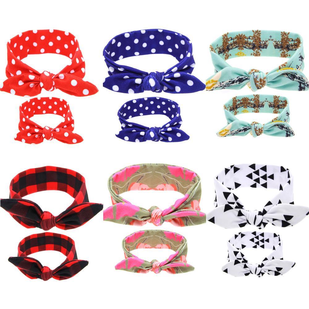 sciarpa stampata signore Rabbit Ears Pirate foulard della fascia fascia per capelli disponibile in una varietà di stili
