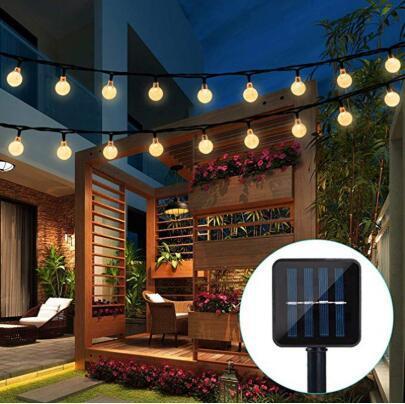 Lampe solaire 10m 50led Crystal Ball Ball Globe Luz Étanche Etanche Blanc Fairy Light Jardin Décoration De Jardin Décoration Solaire Extérieur Solaire à LED