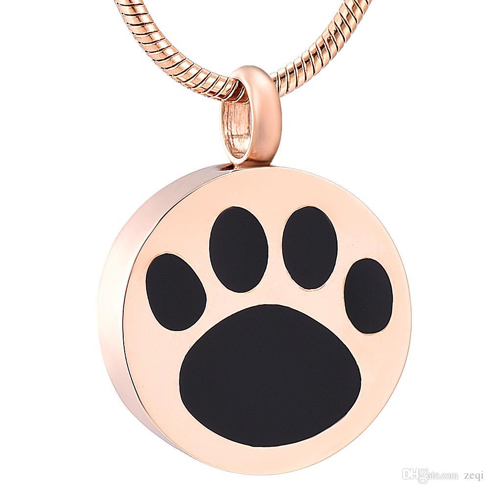 LkJ9738 нержавеющая сталь собака Лапа печати кремации ювелирные изделия для пепла-урна Pet ожерелье Мемориал подарок на память кулон для мужчин женщин