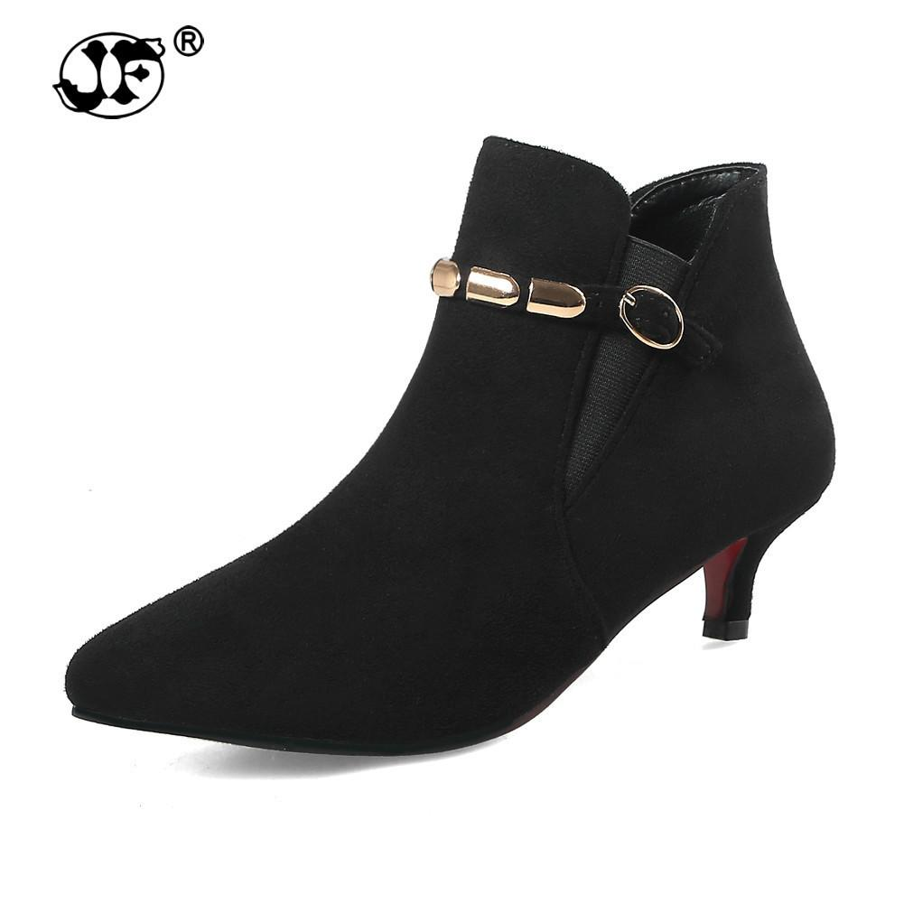 2018 wholesale in stock dropship large sizes 33-48 best quality woman ankle boots fashion OL women's shoes booties ghu89