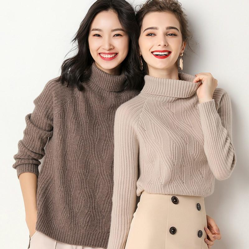 2020 2019 New Women Korean Turtleneck Sweater Women Pullover Cashmere Sweater Slim Fashion Knitted Winter Clothes From Trousseau, $43.74 | DHgate.Com