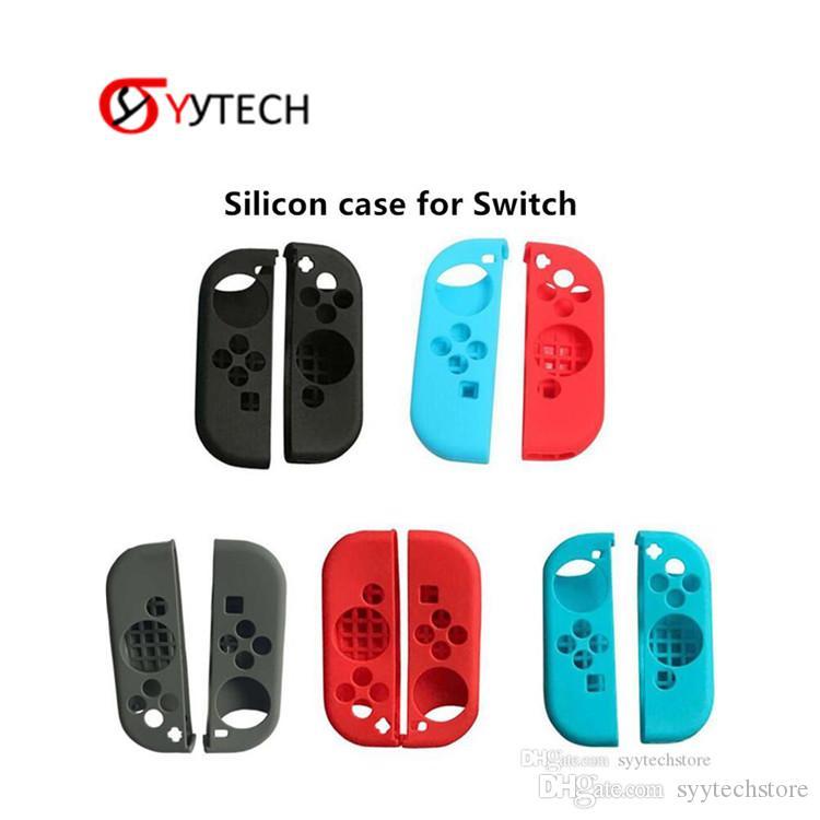 Syitech Touch Soft Protective Silicon Cubiertas Cubiertas para la piel para el interruptor Nintendo Black Red Gray Blue Color