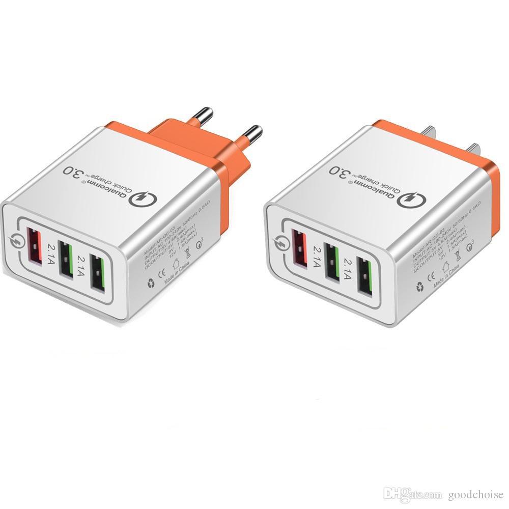 Быстрая зарядка 3.0 USB зарядное устройство 5V 2.4 A QC3. 0 быстрая зарядка USB зарядное устройство для мобильного телефона Samsung зарядное устройство