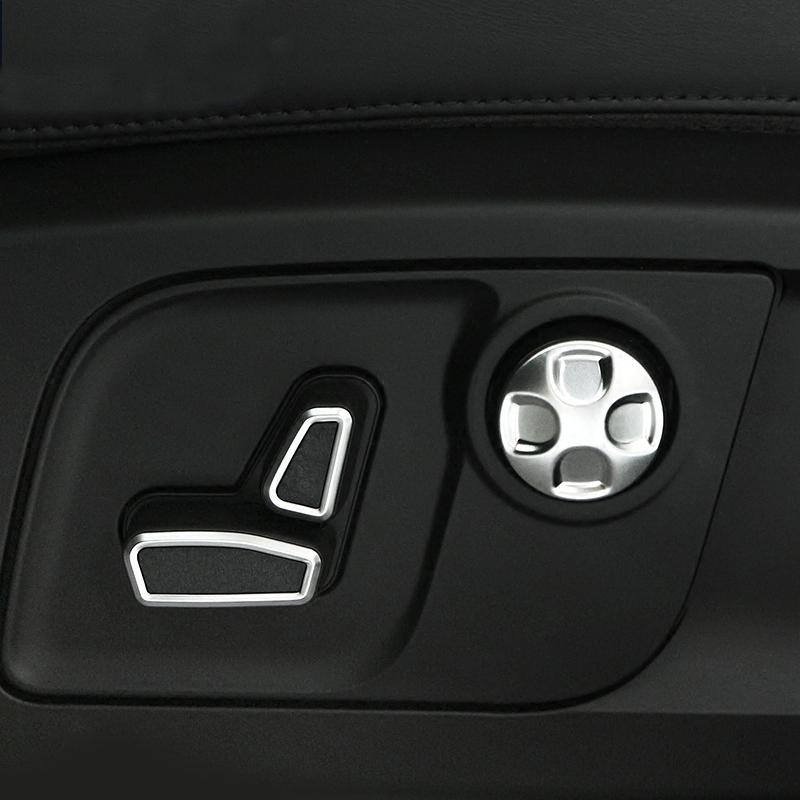 Car-Styling Asientos de ajuste de la cintura interruptor de botón de ajuste de la cubierta pegatinas 3D para Maserati Ghibli Levante Quattroporte Accesorios para automóviles