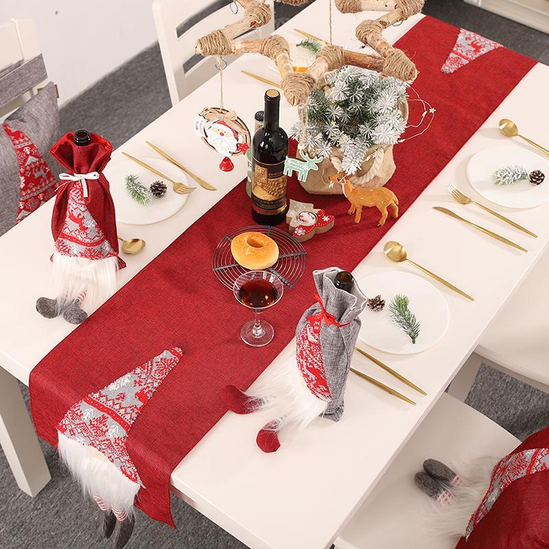 Santa Tableau Drapeau Creative Décoration de table de fête de Noël Fête Cartoon Nappe de haute qualité de Noël Décoration de table en tissu
