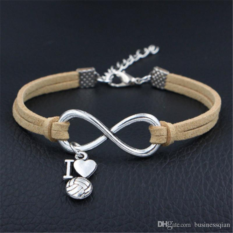 Charm Bracelets Beige Leather