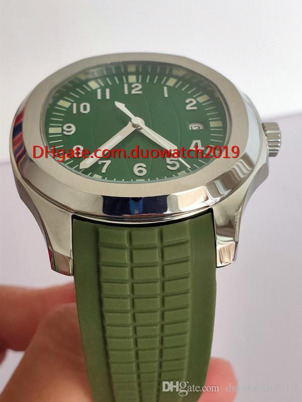 2019 superventas clásico mecánico superior de lujo reloj para hombre Aquanaut verde Dial 5168G bandas de goma mecánico automático de los hombres deportes wat
