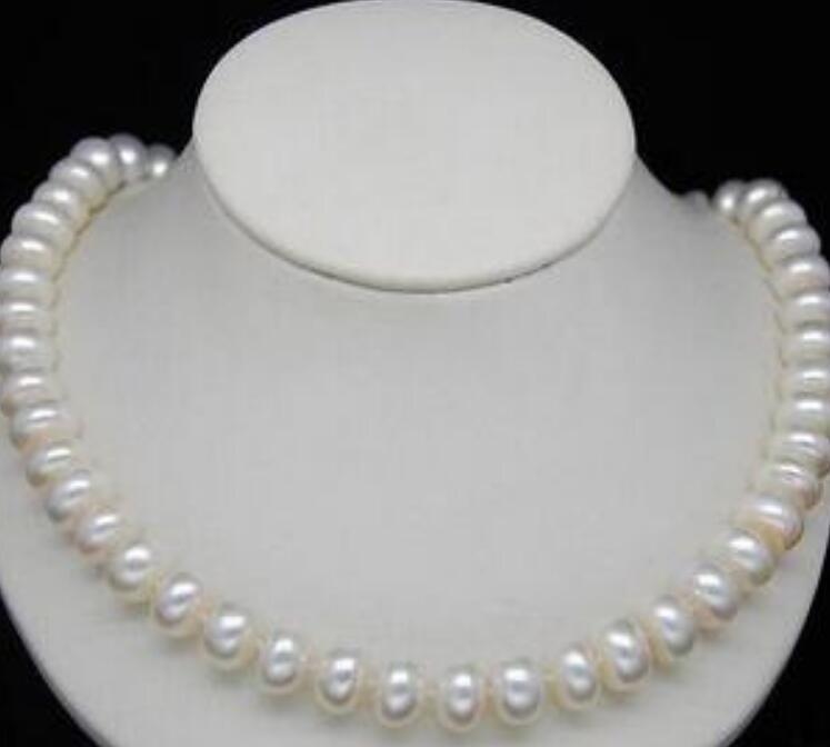 """collana Spedizione gratuita ++++ Collane di perle bianche rare 11-12mm naturali da 18 """""""