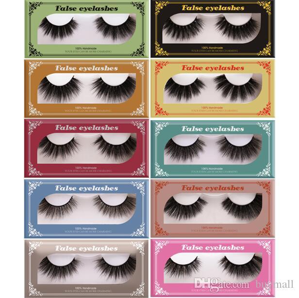 Newest Nano 5D mink false eyelashes thick natural fake lashes eye makeup accessories soft & vivid eyelashes extensions drop shipping