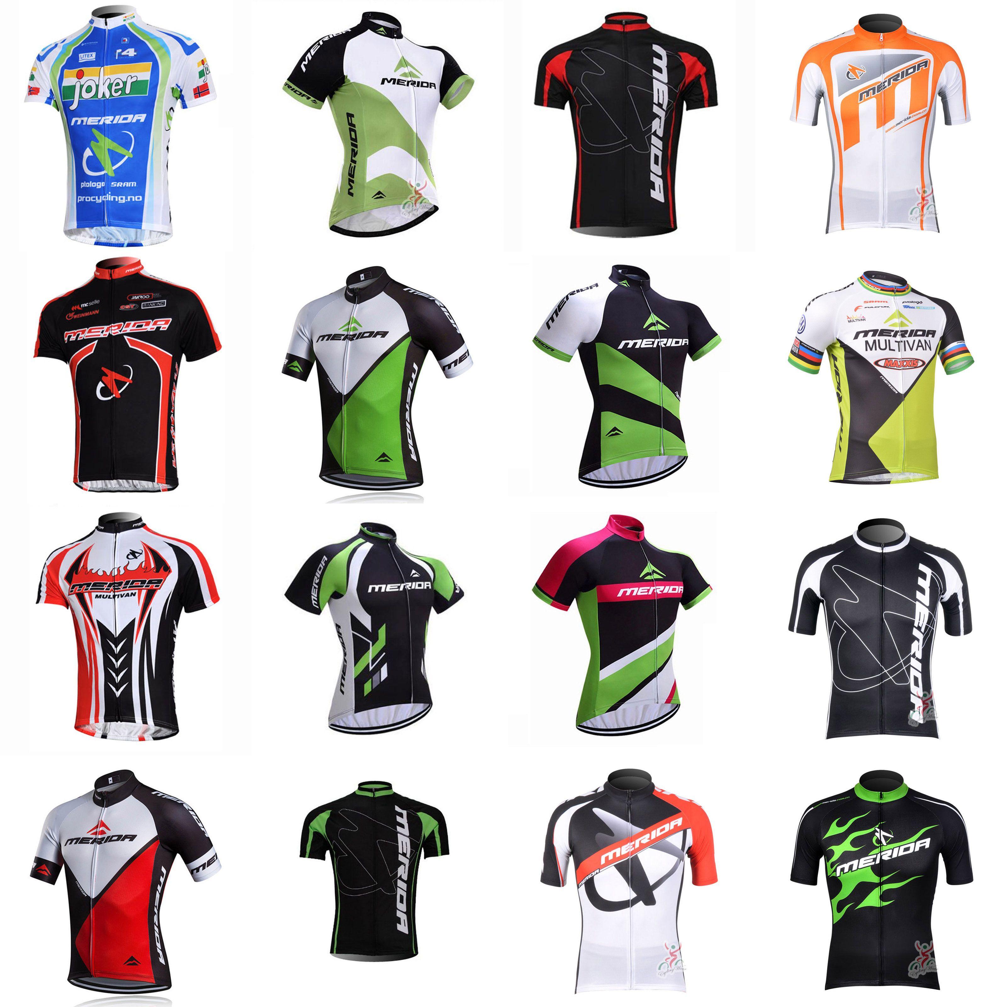 MERIDA ekibi Bisiklet Kısa Kollu jersey Dağ Bisikleti Elbise Kısa Kollu Hızlı Kuru Bisiklet Spor açık C2409