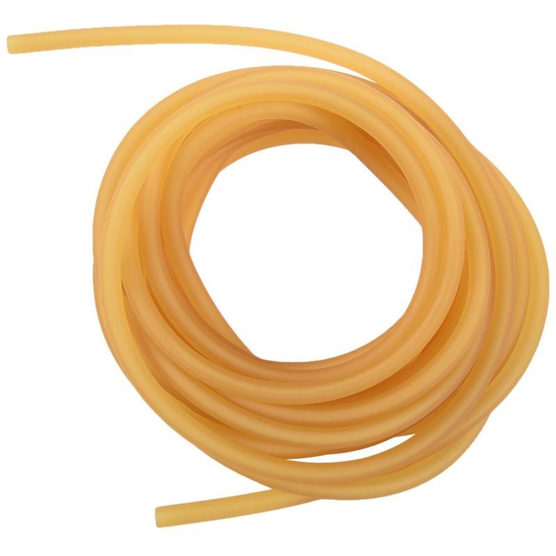 Látex natural de la goma elástica del tubo 2x5mm tamaño amarillo: 5M