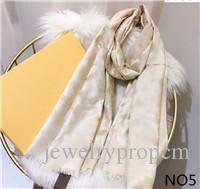 Venta caliente Tamaño pañuelo de seda para mujer de la manera del hombre 4 estaciones del mantón bufandas sobre 180x70cm de 6 colores con el regalo de embalaje opcional