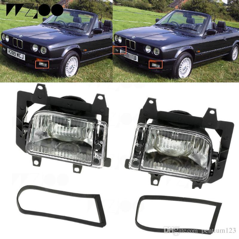 2 adet Ön Tampon Şeffaf Plastik Lens Sis Farları For1985-1993 BMW E30 3-Series 318i 318is 325i Sedan