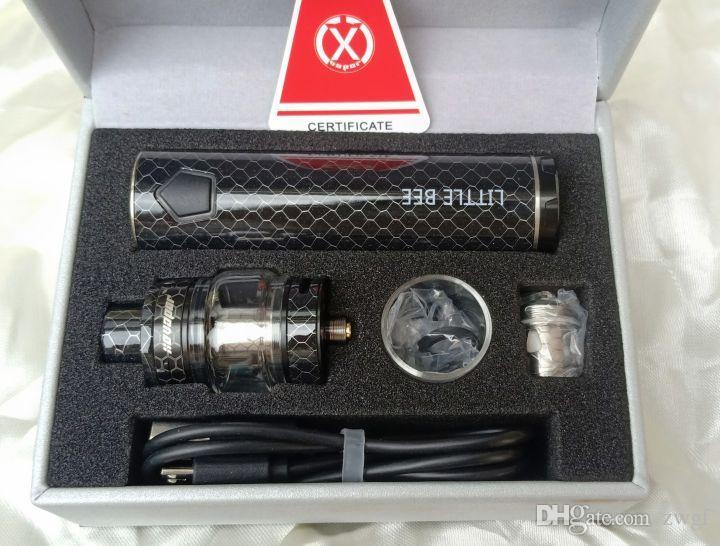 XO Vaportech küçük arı 120 w e çiğ stokta ucuz fiyat elektronik sigara sigara siyah gri mavi renk vape kiti électronique