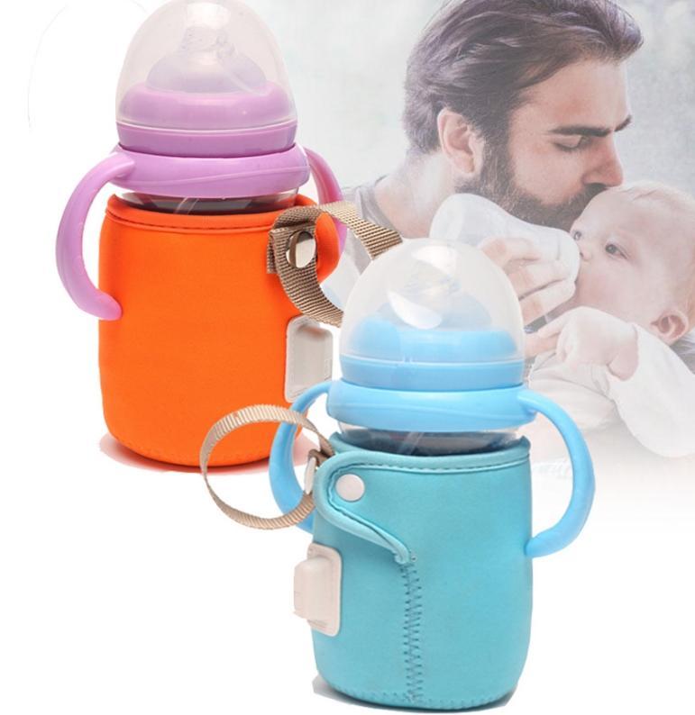 Portable USB Morner For Milk Water Travell Straull Insulated Bag Baby Nursing Bottle Warming Bottle Feed Anti-slip Insulation Bag