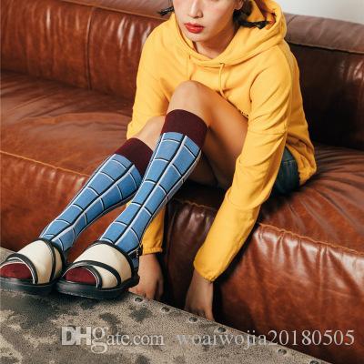 20190414 New Ladies meias de algodão, meias de bezerro e meias