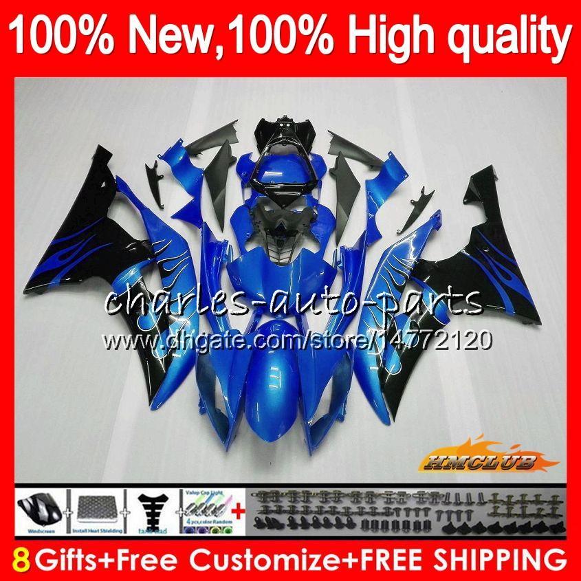 Lichaam voor Yamaha YZF600 Blue Flames YZF R6 YZF-R6 2008 2016 68HC.107 YZF 600 R 6 CC 600CC YZF-600 YZFR6 08 09 10 11 12 13 14 15 16 VALERINGEN