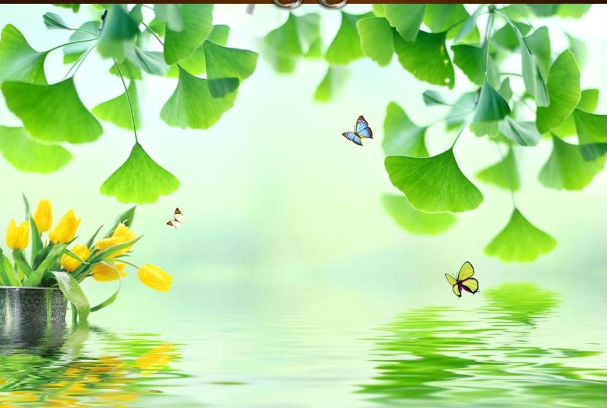 Beautiful Scenery Wallpapers Small Fresh Green Leaf Living Room Tv Background Wall Download Wallpapers Easter Wallpaper From Adeir 17 52 Dhgate Com