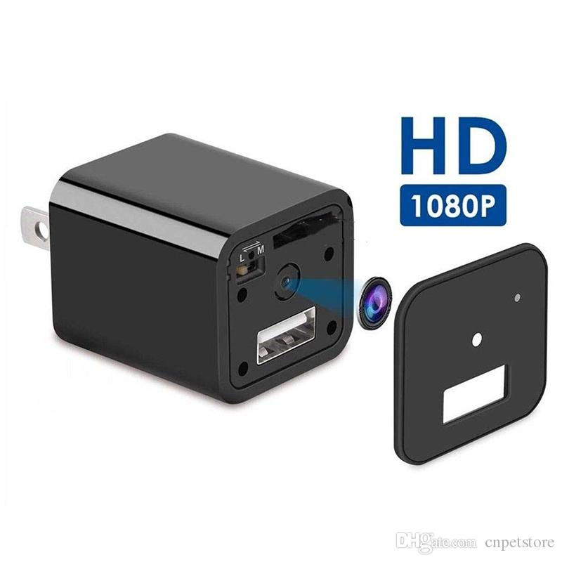 HD 1080P البسيطة DV شاحن كاميرا DVR AC الجدار شاحن الولايات المتحدة / الاتحاد الأوروبي التوصيل USB كاميرا محول كاميرا محمولة DVR كاميرات Survelliance