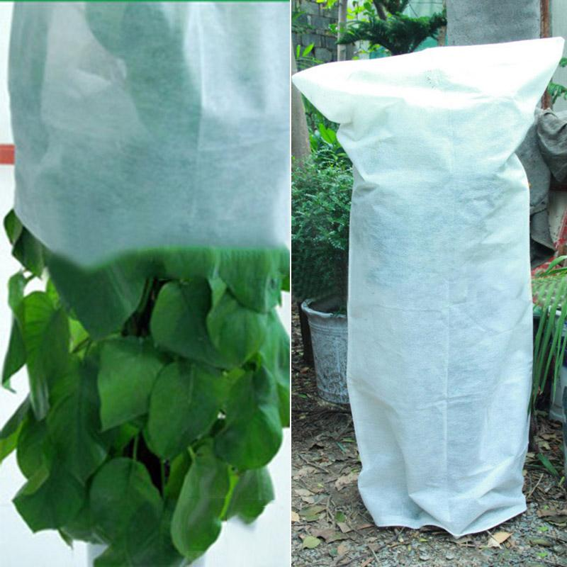 Frost Plant Protection Drawstring Bags Non-woven Fabric Cover Plants Garden Hot