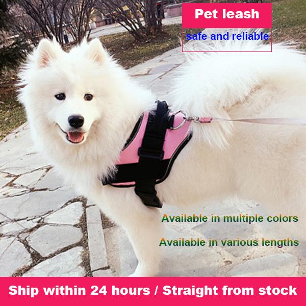 Pet traction metal rope pet chest back nylon metal belt dog traction nylon metal rope dog chain pet supplies wholesale Dog Collars & Leashes