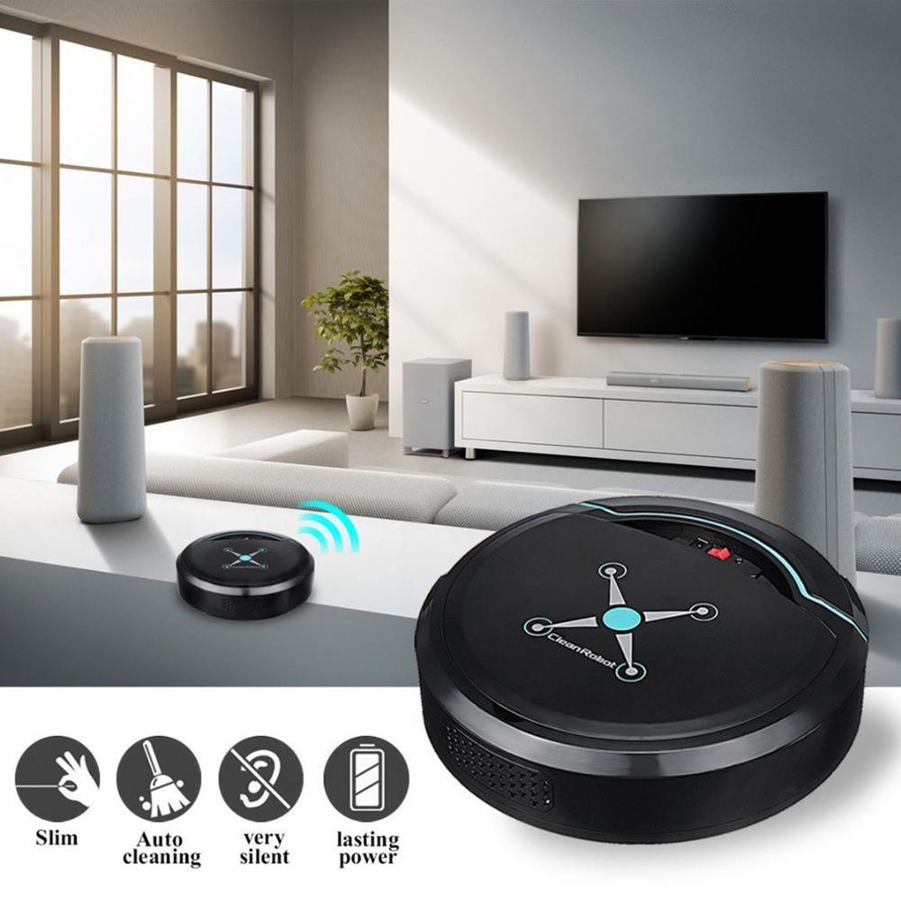 Automatique Intelligent Robot Balayer USB Aspirateur rechargeable Ménage automatique intelligent Robot Dirt Floor Machine automatique de balayage