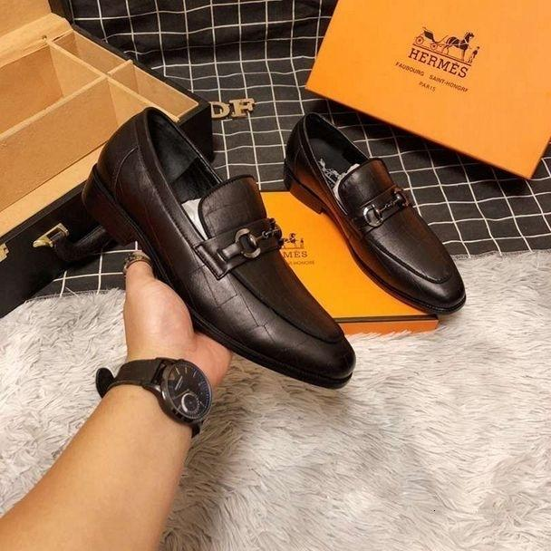 Mens Leather Shoes Formal Slip-on Outdoor Evening Rubber Sole Handmade Size New