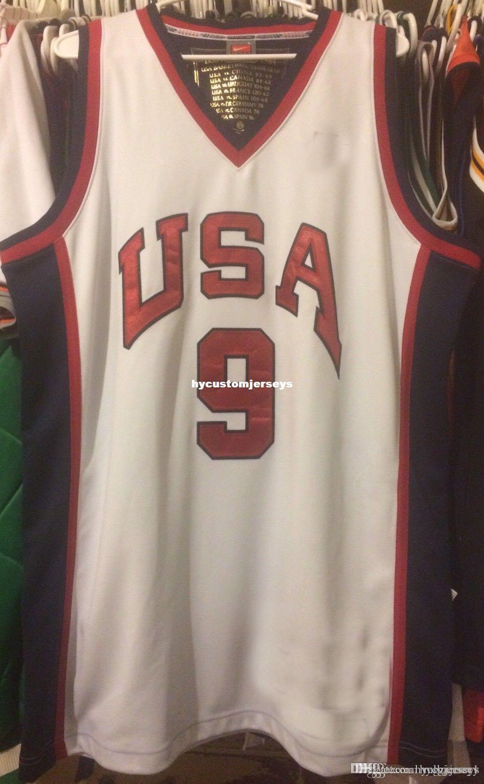 Ucuz toptan Michael 9. Dikişli Basketbol formaları NCAA yelek # 23 Rüya Takım nk Jersey Dikişli Erkek Olimpiyatları tişört