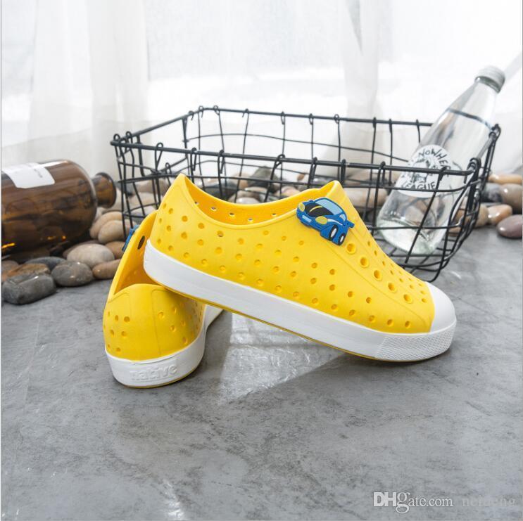 Hot Vente-Teen natif Jefferson trou Chaussures Marque Garçons Filles autochtones Enfants Chaussons Chaussures Taille 28-44