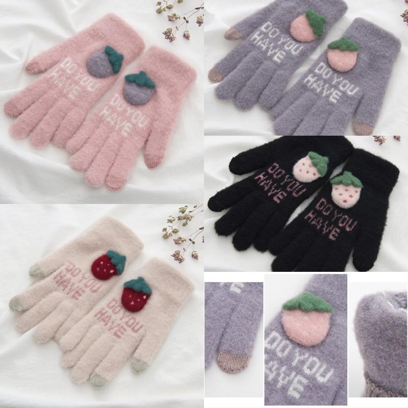 Chaud Câble Gants en tricot à écran tactile gants et Automne Hiver Keep Warm Outdoor Sport Courir moufles pour les femmes 4 couleurs N17Z