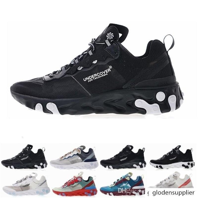 2019 Epic React Element 87 Undercover running shoes for men women white black NEPTUNE GREEN blue mens trainer breathable sports sneakers